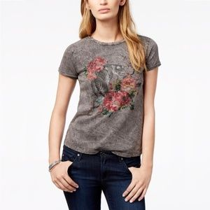 Lucky Brand Tiger Floral Graphic T-Shirt Size XL